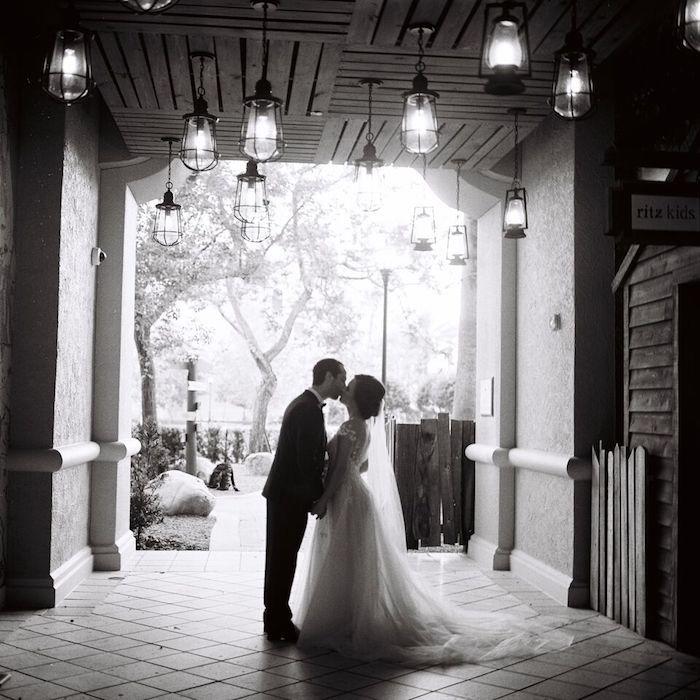 Ritz Carlton Orlando Bride and Groom Black and White