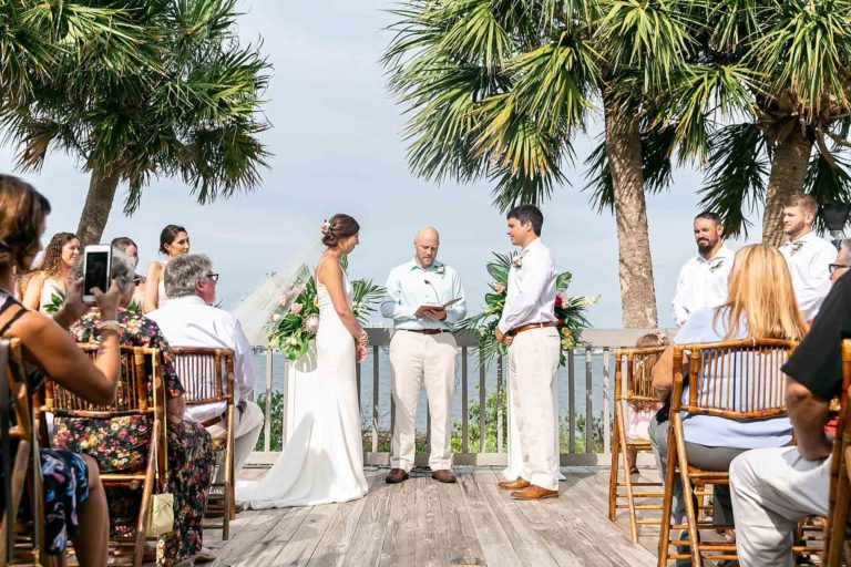 Riverside Pavillion Ceremony and bamboo chairs