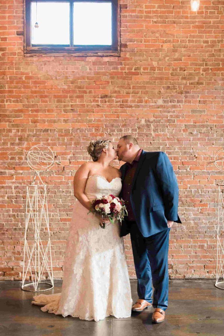 CAVU Bride and Groom Kiss