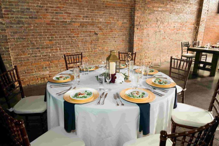 CAVU Reception Table Decor