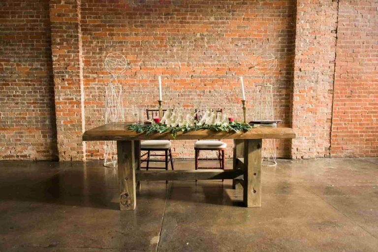 CAVU Rustic Wedding Head Table