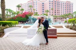 Caribe Royal Navy Blue Tropical Wedding