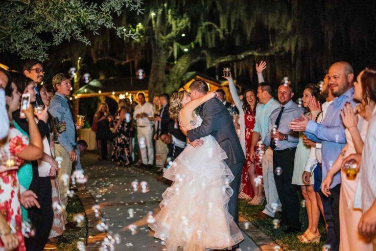 New Smyrna Beach Bride and Groom Exit