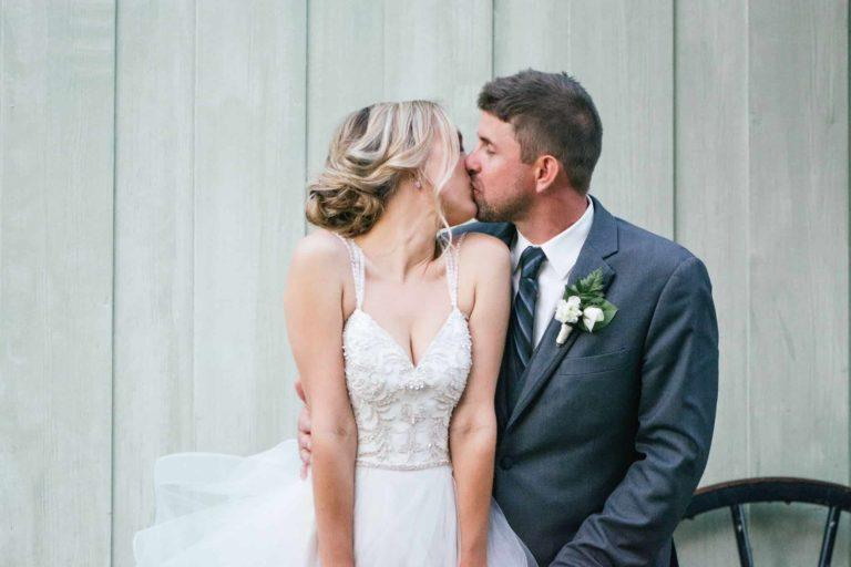 New Smyrna Beach Bride and Groom Kiss