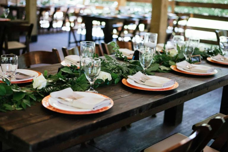 New Smyrna Beach Reception Table Decor