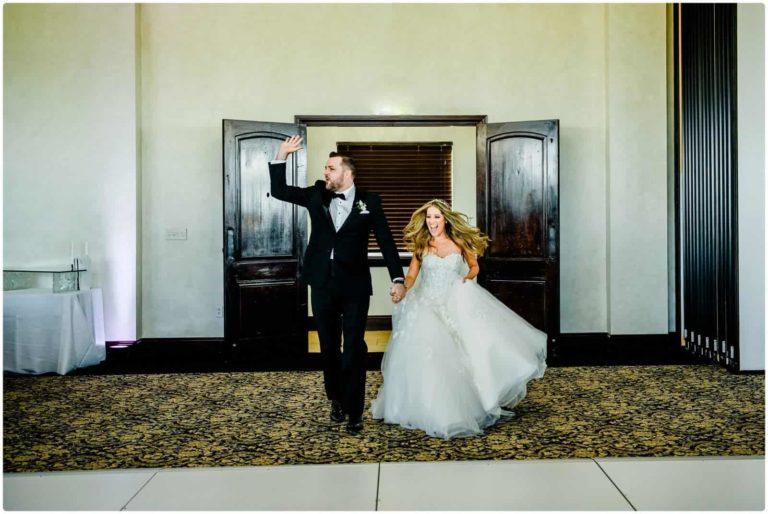Bella Collina bride and groom entrance