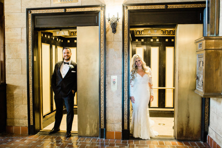 Bride and Groom Preceremony at the Treasury on the Plaza