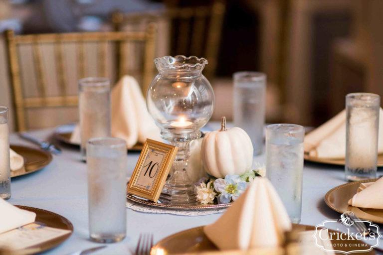 Fairy Tale Reception Centerpieces Complete with Pumpkin
