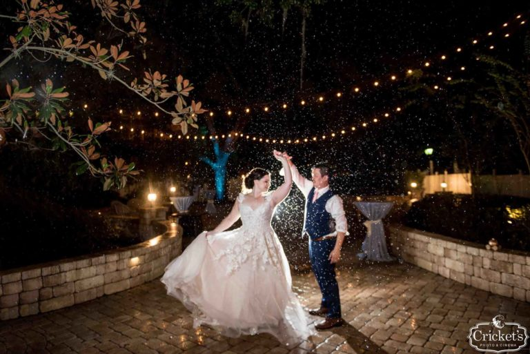 Magical Wedding Dance in the Rain between the Bride and Groom