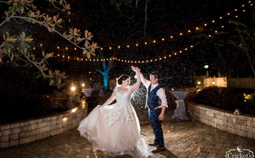 Magical Wedding Dance in the Rain with the Bride and Groom