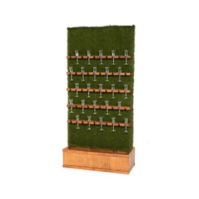 Champagne Grass Wall – Walnut Stain Base