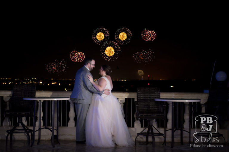 Fireworks after Wedding Reception
