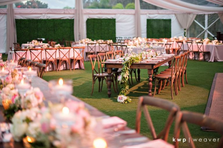 French Country Chairs at Wedding Reception