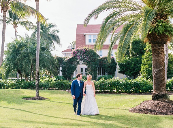 Gasparilla Inn Pink and White Wedding