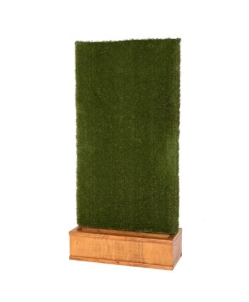 Grass Walls - Walnut Stain Base - A Chair Affair Rentals