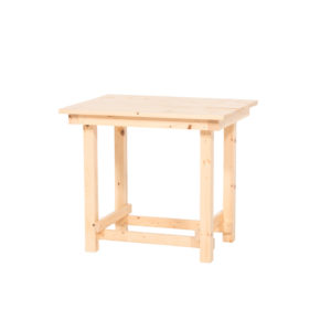 Hank End Table - Natural Wood - A Chair Affair Rentals