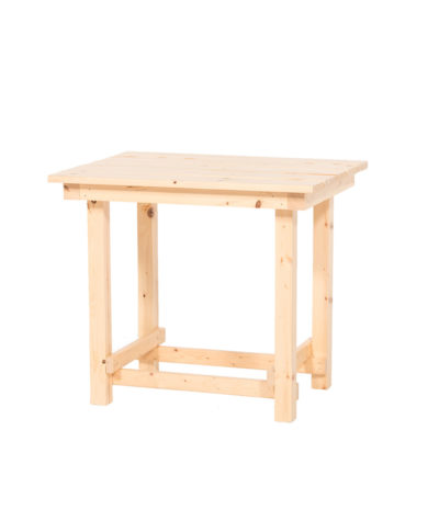 Hank End Table – Natural Wood – A Chair Affair Rentals