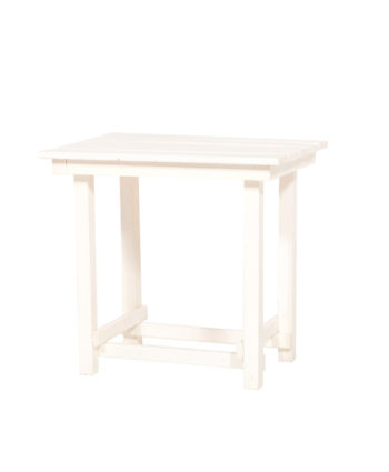 Hank End Table - White - A Chair Affair Rentals