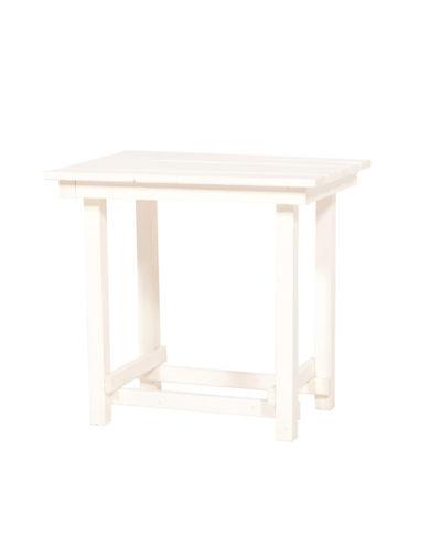 Hank End Table – White – A Chair Affair Rentals