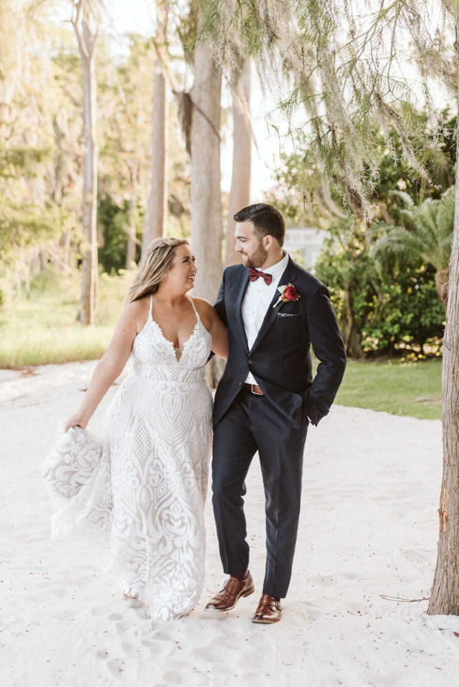 Bride and Groom at Paradise Cove