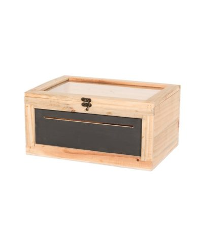Wooden Card Box with Chalkboard Front – A Chair Affair Rentals