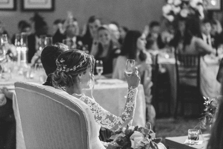 Bride Toasting at TPC Sawgrass Reception