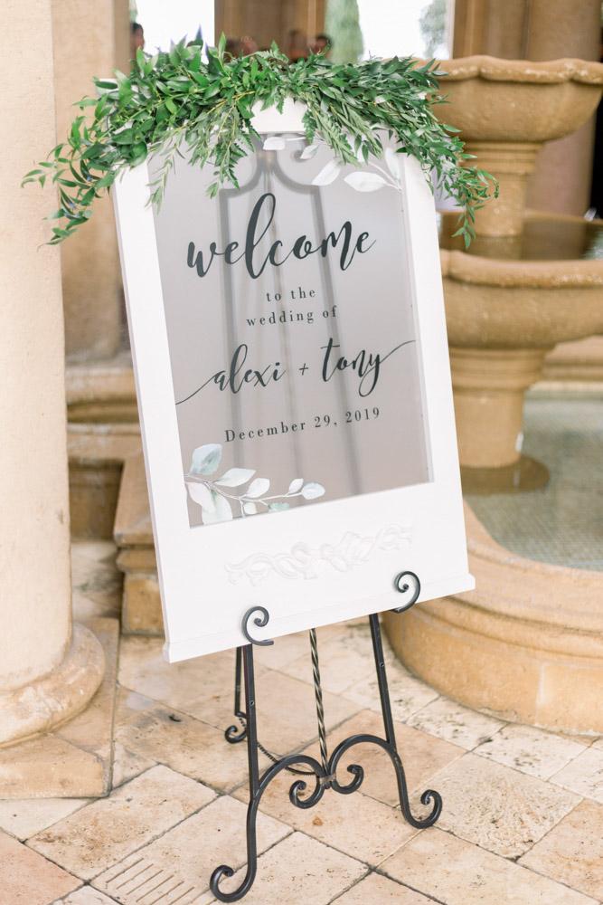 Wedding Sign at Bella Collina