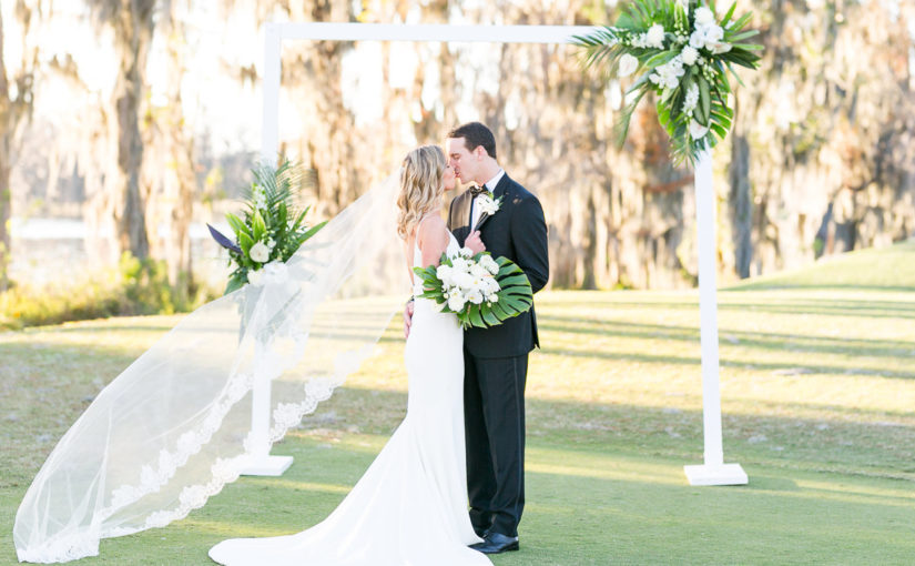 Isleworth Country Club Modern Tropical Wedding