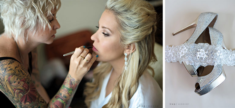 Makeup on Bride