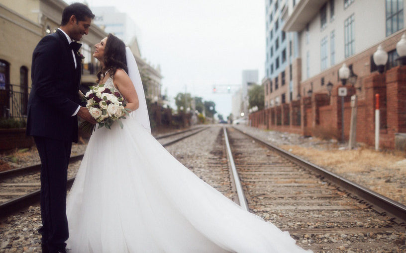 Fairy-tale Downtown Orlando Wedding