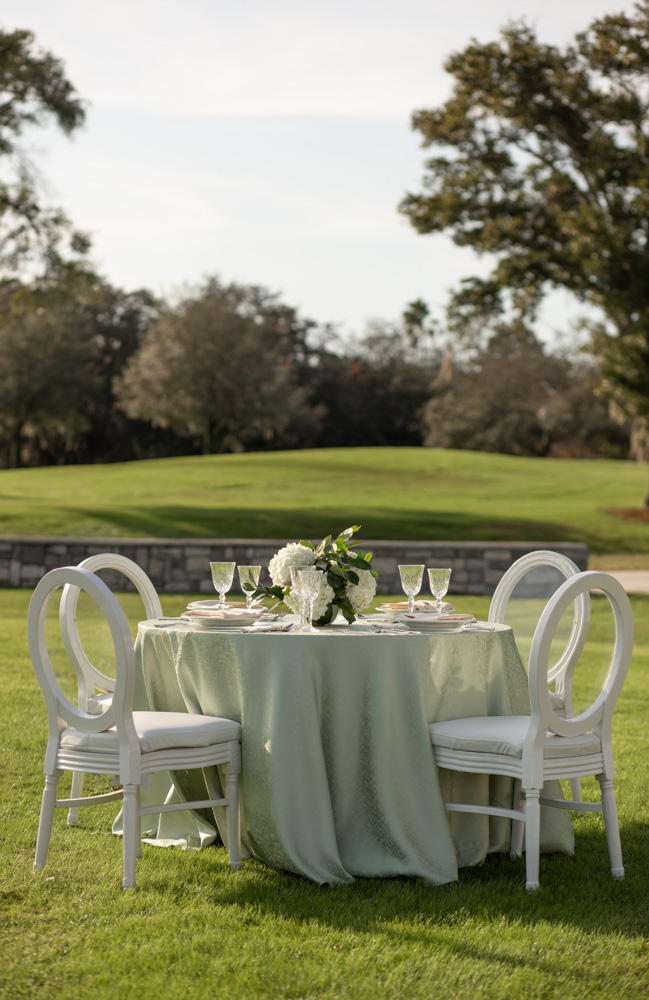 ACA king louie chairs at Tuscawilla Country Club
