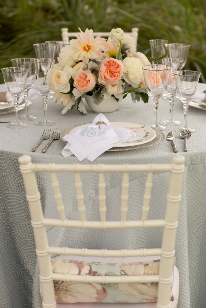 ACA silver rimmed stemware for Water Lilly Launch Day