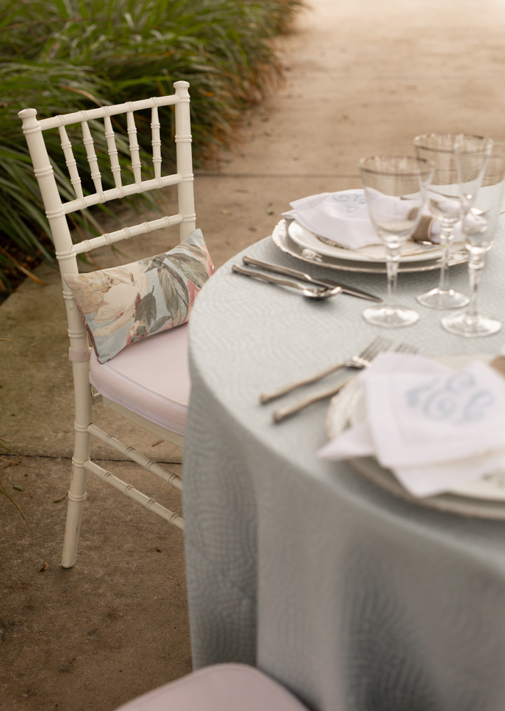 ACA whitewashed Chiavari chairs