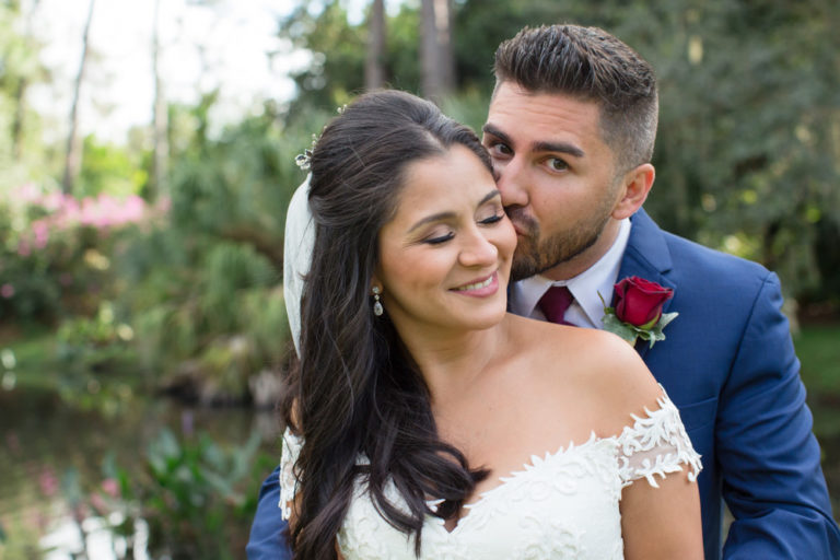 Bride and Groom Portrait at Mission Inn