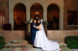 The Howey Mansion Romantic Maroon Wedding