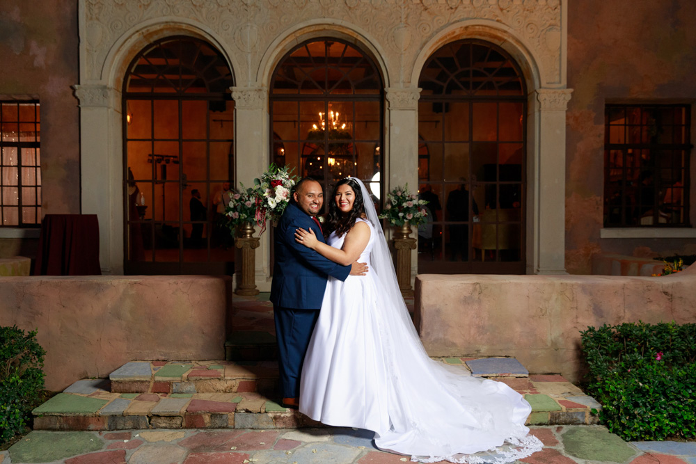 Bride and Groom at The Howey Mansion Wedding Reception