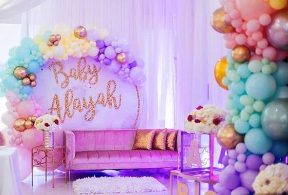 Glamorous Gold Baby Shower-A Chair Affair