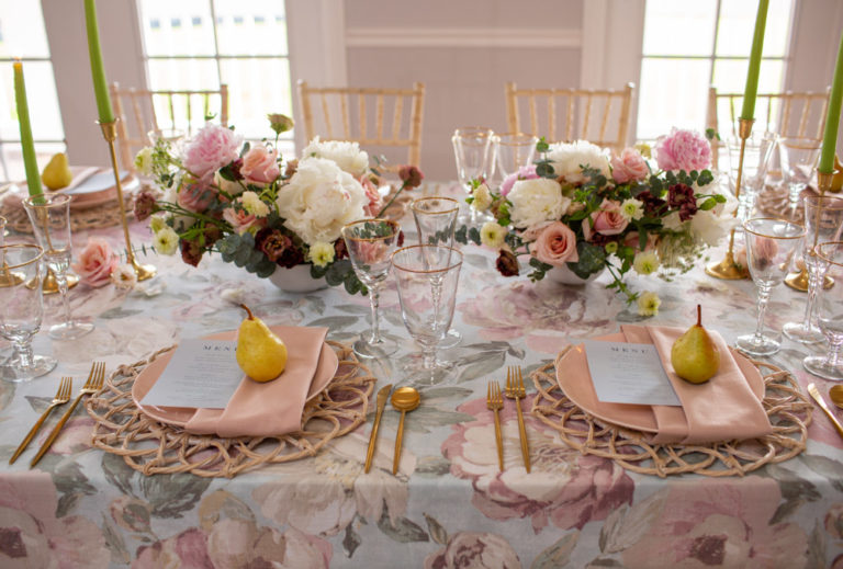indoor reception spring table decor