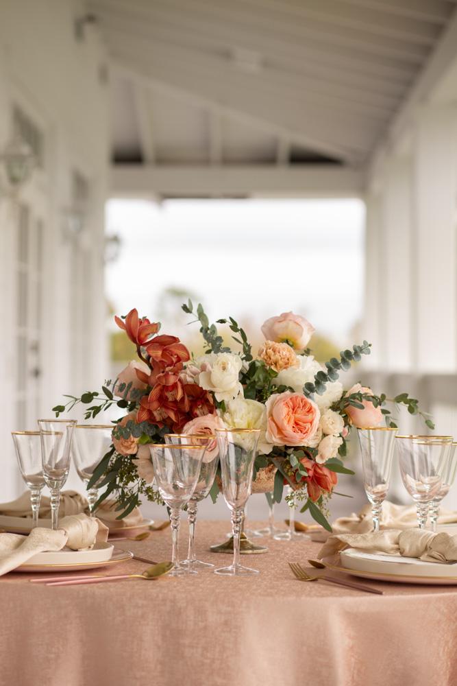 warm color palette table decor