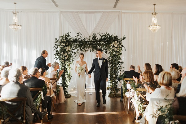 The Orlo Wedding: Creamy White and Classic Greenery