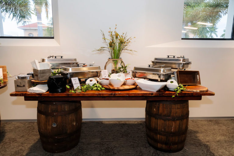 Mahogany Buffet Table Rustic Event