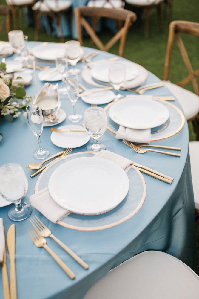 A Chair Affair Gold Flatware and Chargers