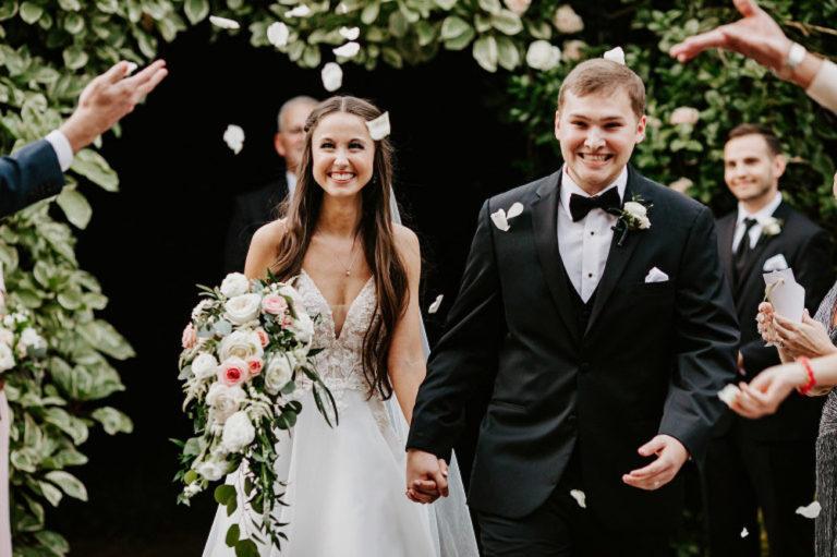 Sunken Gardens Wedding Ceremony Recessional