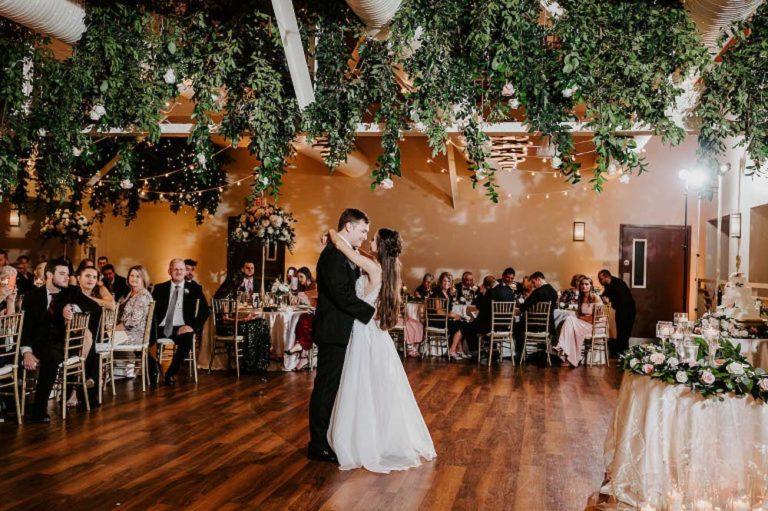 Sunken Gardens Wedding Reception First Dance