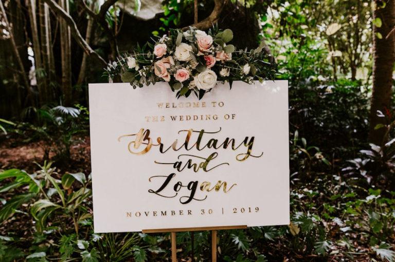 St Pete Wedding Reception Sign
