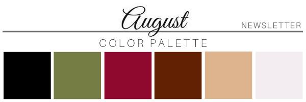 August 20 Color Palette - A Chair Affair