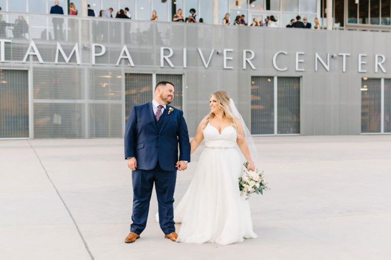 Tampa River Center Bride and Groom