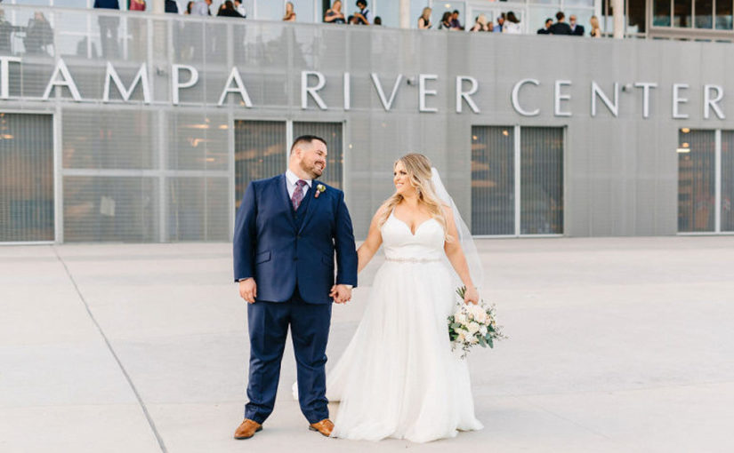 White and Greenery Tampa River Center Wedding