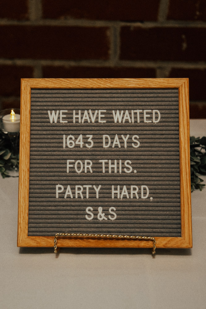 Wedding Reception Party Sign