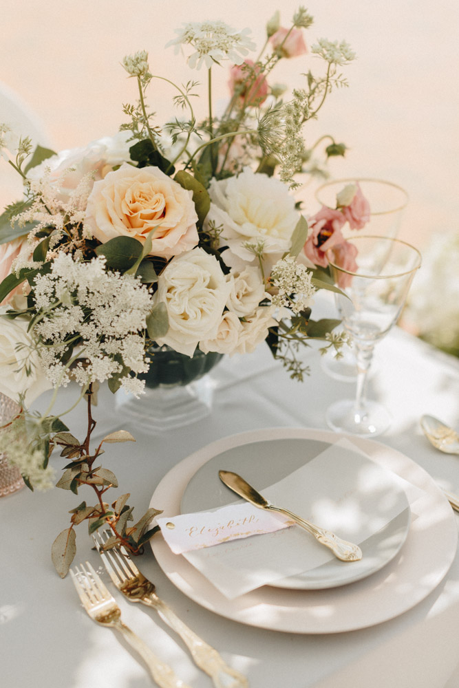 neutral color palette table setting